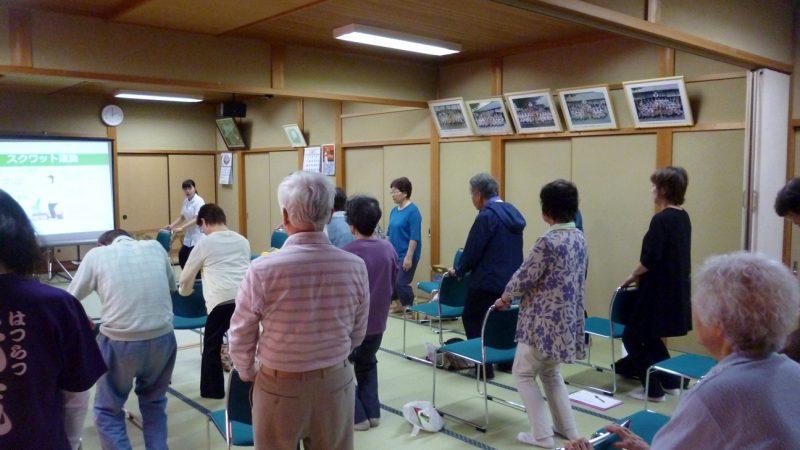 三重県志摩市磯部町迫間の地域サロンで運動教室を開催しました!