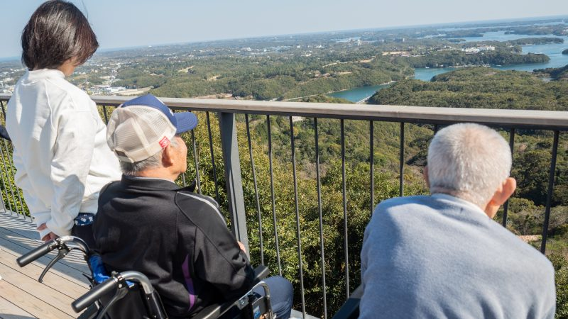 特別養護老人ホームうがた苑が「創造の森 横山」へお花見に出かけ、その後「横山展望台」の絶景を眺めに行きました!