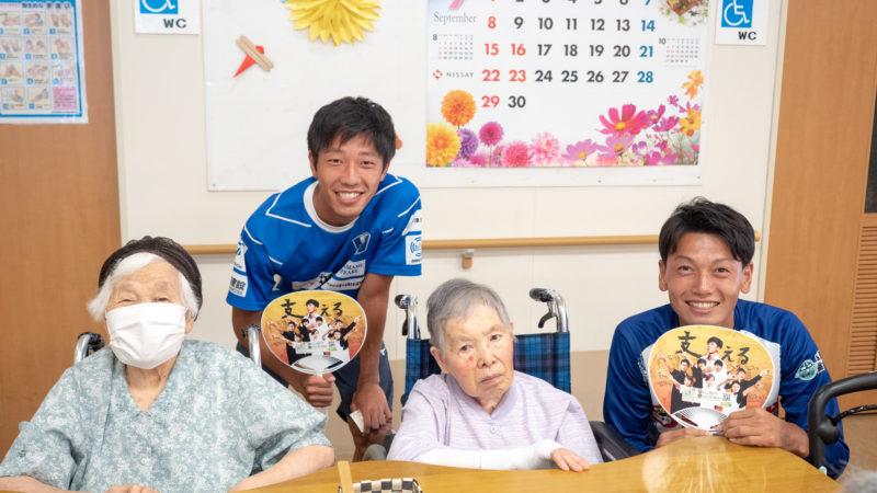 地元の社会人サッカークラブFC.ISE-SHIMAの選手が試合の結果報告に来てくれました!