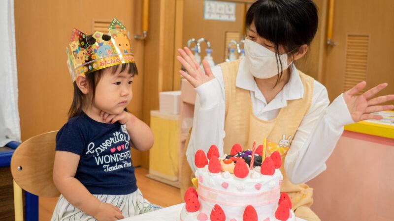 グローバルキッズルームうがたで7月のお誕生日会を開催!