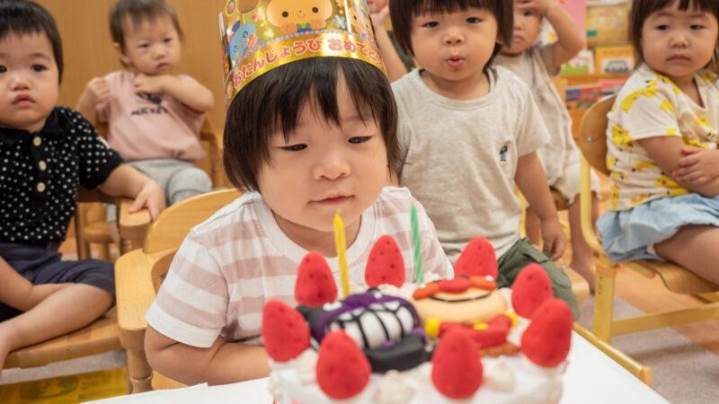 グローバルキッズルームうがたで9月のお誕生日会を開催しました!